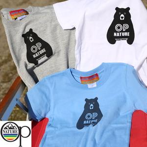 オーシャンパシフィック(Ocean Pacific) 【OP×ナチュラム】Kid's 5.6オンス プリント Tシャツ くま 上半身 599011-R