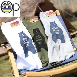 オーシャンパシフィック(Ocean Pacific) 【OP×ナチュラム】Kid's 5.6オンス プリント Tシャツ くま 立ち 599012-R
