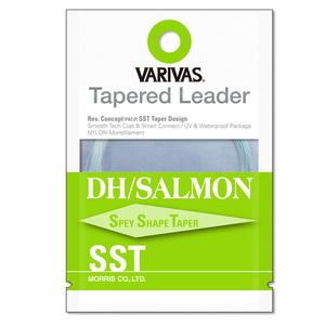 モーリス(MORRIS) VARIVAS テーパードリーダー DH/サーモン SST ナイロン 18ft 3X ナチュラルグリーン