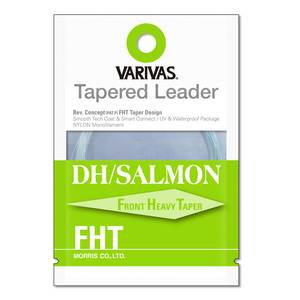 モーリス(MORRIS) VARIVAS テーパードリーダー DH/サーモン FHT ナイロン 18ft 2X ナチュラルグリーン