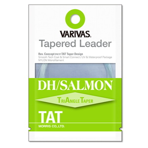 モーリス(MORRIS) VARIVAS テーパードリーダー DH/サーモン TAT ナイロン 18ft 3X ナチュラルグリーン