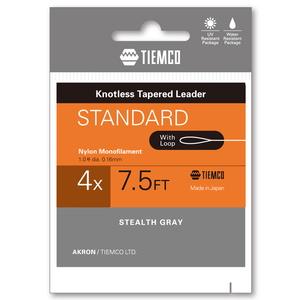 ティムコ(TIEMCO) リーダースタンダード ループツキ 7.5フィート/4X ステルスグレー 175100207540
