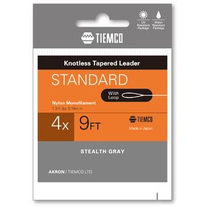 ティムコ(TIEMCO) リーダースタンダード ループツキ 9フィート/4X ステルスグレー 175100209040