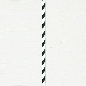 パール金属 パーラー 紙製ストロー30P ホワイト×ブラック D-1466