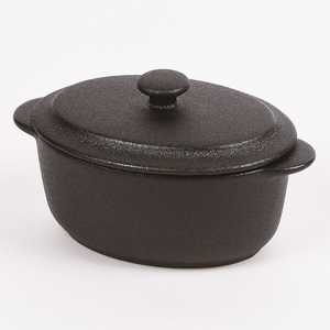 パール金属 オーブンウェアブラック スモールキャセロール L-1913