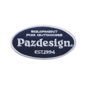 パズデザイン Pazdesign ワッペンオーバル ネイビー×ホワイト PAC-274