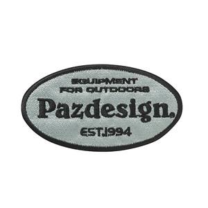 パズデザイン Pazdesign ワッペンオーバル グレー×ブラック PAC-274