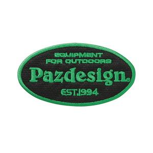 パズデザイン Pazdesign ワッペンオーバル ブラック×グリーン PAC-274