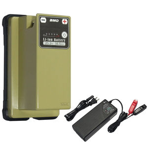 【送料無料】bmojapan(ビーエムオージャパン) リチウムイオンバッテリー25.2V 16.5Ah+チャージャー セット 10Z0011