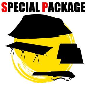 ナチュラム *決定版4シーズン2ルームテント+キャンプ関連小物3種【お買い得(秘)パッケージ】