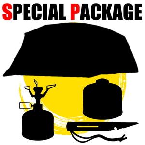 ナチュラム 最上級トンネル型テント+キャンプ小物3種【お買い得(秘)パッケージ】