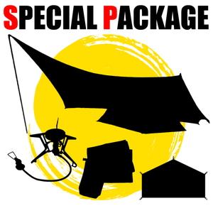ナチュラム *タープ付きソロテント+キャンプ小物2種【お買い得(秘)パッケージ】
