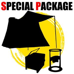 ナチュラム スプリングバーフレームでクラシックなテント+キャンプ小物2種【お買い得(秘)パッケージ】