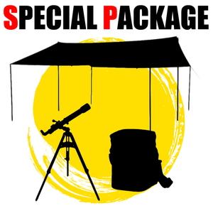 ナチュラム *レクタ型(L)タープ+天体望遠鏡+キャンプ小物1種【お買い得(秘)パッケージ】