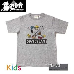 ジーアールエヌアウトドア(grn outdoor) KANPAI SNOOPY S/S TEE Kid's GOK0171R