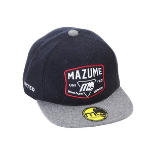 MAZUME(マズメ) mazume FLAT CAP スカルエンブレム フリー ネイビー MZCP-515