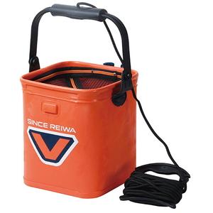 VICEO(ヴィセオ) ロッドホルダーライブバケツ 21cm オレンジ VC207O