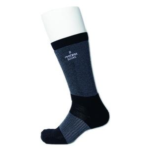 rootwat socks(ルートワットソックス) WOOL HYBRID LONG SOX「SS Ver」 S(22-23.5) GY/BK 45180