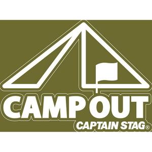 キャプテンスタッグ(CAPTAIN STAG) デザインステッカー キャンプアウト CLR UM-1544