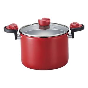 ベストコ KACHAT 湯切りもできるセラミックハイキャセロールIH ND-2996