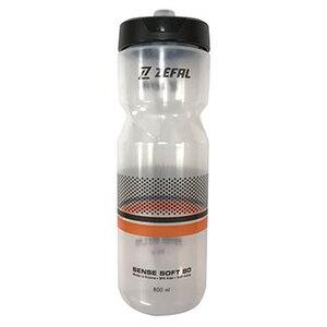 zefal(ゼファール) Sense Soft 80 ウォーターボトル 800ml クリアー×ブラック×オレンジ 157H