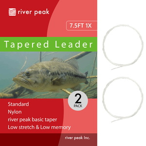 river peak(リバーピーク) テーパードリーダー 7.5FT 1X クリアー RP-TPL100-751