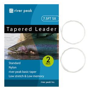 river peak(リバーピーク) テーパードリーダー 7.5FT 5X クリアー RP-TPL100-755