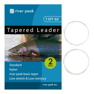 river peak(リバーピーク) テーパードリーダー 7.5FT 6X クリアー RP-TPL100-756