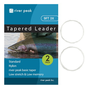 river peak(リバーピーク) テーパードリーダー 9FT 3X クリアー RP-TPL100-903