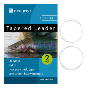 river peak(リバーピーク) テーパードリーダー 9FT 4X クリアー RP-TPL100-904