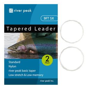 river peak(リバーピーク) テーパードリーダー 9FT 5X クリアー RP-TPL100-905