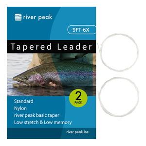 river peak(リバーピーク) テーパードリーダー 9FT 6X クリアー RP-TPL100-906