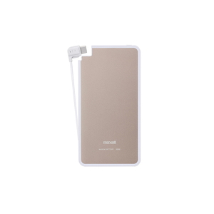 日立マクセル(日立maxell) Type-Cケーブル一体型モバイル充電バッテリー「軽(かる)薄(うす)」 3000mAh MPC-RTC3000PGD 充電器・アクセサリー