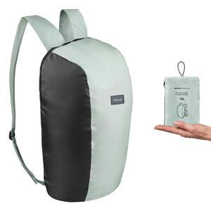 FORCLAZ(フォルクラ) TRAVEL 100 軽量折りたたみ携帯バックパック 10L セージグリーン/ブラック 2899635-8560407
