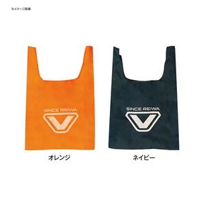 VICEO(ヴィセオ) 100円エコバッグ M オレンジ・ネイビー VC503M