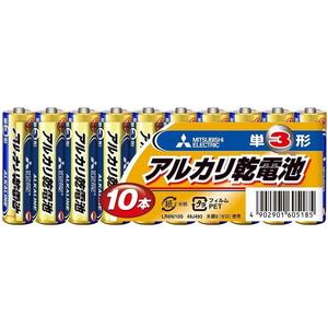 MITSUBISHI(三菱電機) アルカリ乾電池 単3形 10本パック LR6N/10S