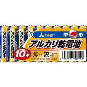 MITSUBISHI(三菱電機) アルカリ乾電池 単4形 10本パック LR03N/10S