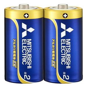 MITSUBISHI(三菱電機) アルカリ乾電池 単2形 2本入 長持ちハイパワー EXシリーズ 使用推奨期限10年 LR14EXD/2S