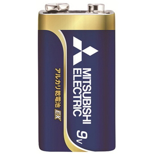 MITSUBISHI(三菱電機) アルカリ乾電池 9V形 1本入 長持ちハイパワー EXシリーズ 使用推奨期限2年 6LF22EXD/1S