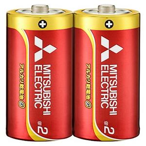 MITSUBISHI(三菱電機) アルカリ乾電池 単2形 2本入 長持ちパワー Gシリーズ 使用推奨期限5年 LR14GD/2S