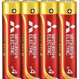 MITSUBISHI(三菱電機) アルカリ乾電池 単4形 4本入 長持ちパワー Gシリーズ 使用推奨期限5年 LR03GD/4S