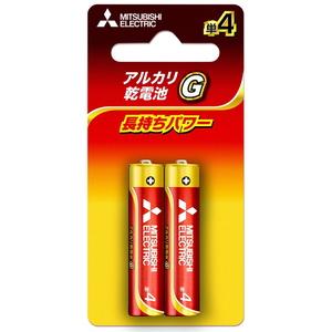 MITSUBISHI(三菱電機) アルカリ乾電池 単4形 2本入 ブリスターパック 長持ちパワー Gシリーズ 使用推奨期限5年 LR03GD/2BP