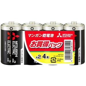 MITSUBISHI(三菱電機) マンガン乾電池 単2形 4本入 R14PUD/4S
