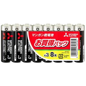 MITSUBISHI(三菱電機) マンガン乾電池 単3形 8本入 R6PUD/8S