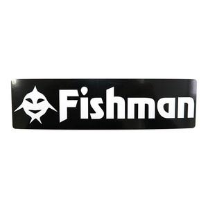 Fishman(フィッシュマン) FishアイコンFishmanステッカー 黒 ST-201602
