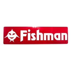 Fishman(フィッシュマン) FishアイコンFishmanステッカー 赤 ST-201603