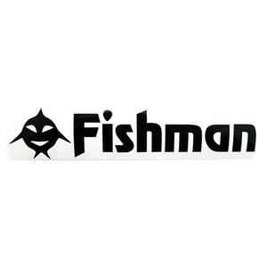 Fishman(フィッシュマン) FishアイコンFishmanステッカー 黒カッティング ST-201604