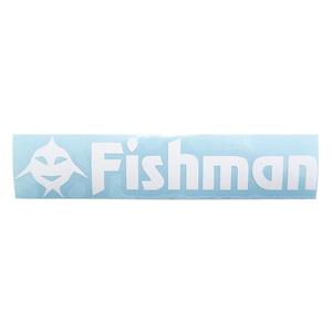 Fishman(フィッシュマン) FishアイコンFishmanステッカー 白カッティング ST-201605