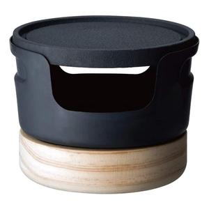 ドウシシャ(DOSHISHA) じゅーじゅー厚熱鉄焼プレート ブラック、木目 LCIP-07