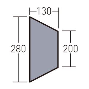 ogawa(キャンパルジャパン) PVCマルチシート ツインクレスタ ハーフインナー用 1434